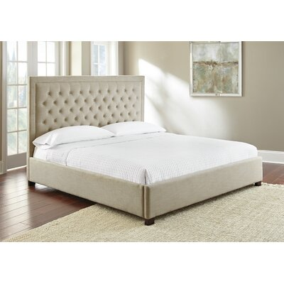 Hanlin Upholstered Platform Bed Color: Sand, Size: Queen