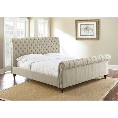 Karsten Upholstered Sleigh Bed Color: Sand, Size: Queen