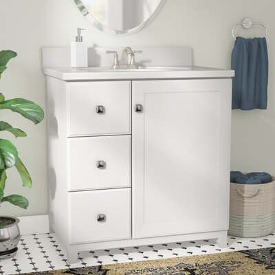 Rosalynn 1-Door 31 Single Bathroom Vanity Base Finish: White