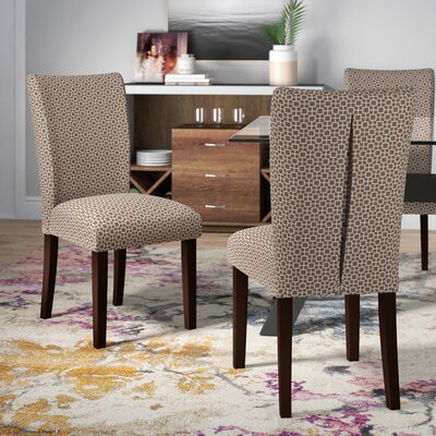 Wallington Parsons Chair Upholstery: Dark Brown