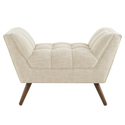 Freeborn Upholstered Ottoman Upholstery: Beige