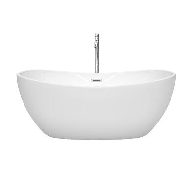 Rebecca 60 x 32 Freestanding Soaking Bathtub Finish: Polished Chrome