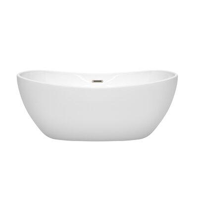 Rebecca 60 x 32 Freestanding Soaking Bathtub Finish: Brushed Nickel