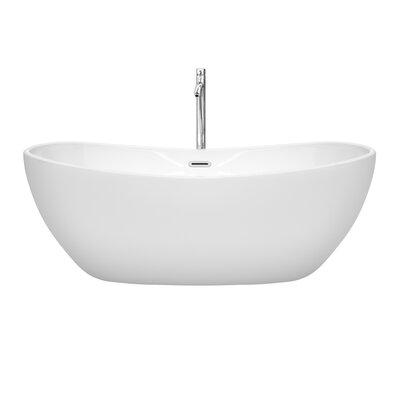 Rebecca 65 x 32 Freestanding Soaking Bathtub Finish: Polished Chrome