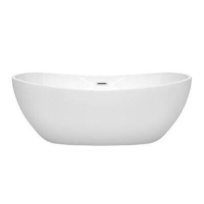 Rebecca 65 x 32 Freestanding Soaking Bathtub Finish: Polished Chrome