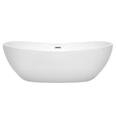 Rebecca 70 x 32 Freestanding Soaking Bathtub Finish: Brushed Nickel