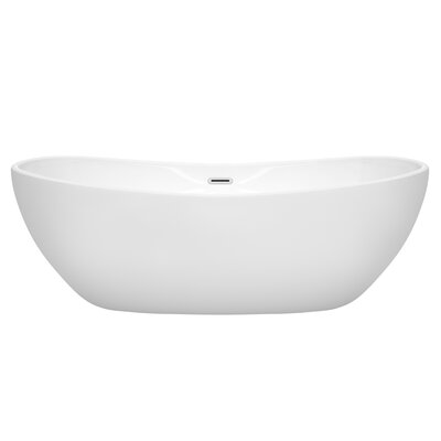 Rebecca 70 x 32 Freestanding Soaking Bathtub Finish: Polished Chrome