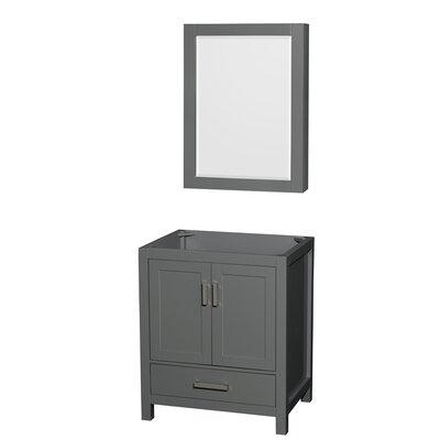 Sheffield 30 Single Bathroom Vanity Base with Medicine Cabinet