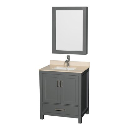 Sheffield 30 Single Bathroom Vanity Set with Medicine Cabinet Top Finish: Ivory