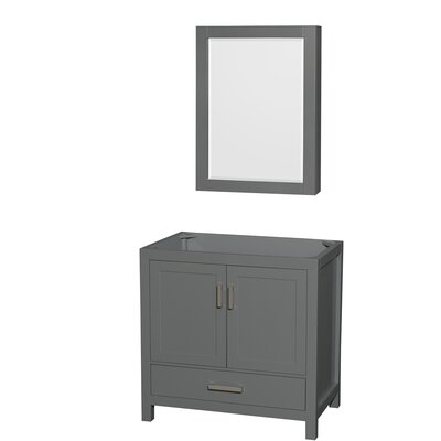 Sheffield 36 Single Bathroom Vanity Base with Medicine Cabinet