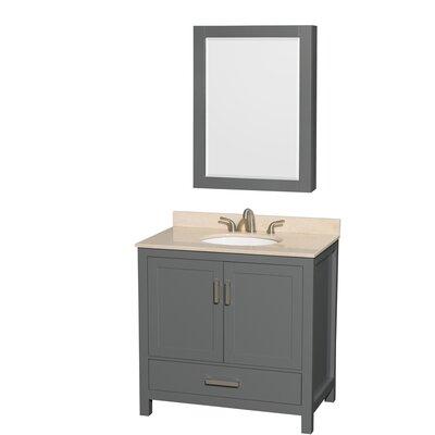 Sheffield 36 Single Bathroom Vanity Set with Medicine Cabinet Top Finish: Ivory