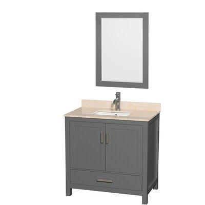 Sheffield 36 Single Bathroom Vanity Set with Mirror Top Finish: Ivory