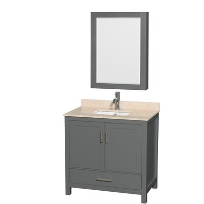 Sheffield 36 Single Bathroom Vanity Set with Medicine Cabinet Top Finish: Ivory