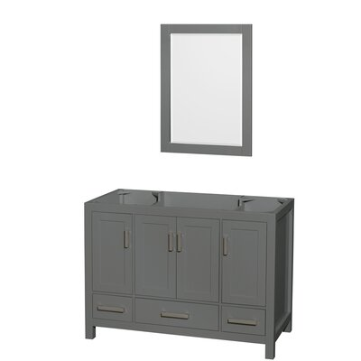 Sheffield 48 Single Bathroom Vanity Base with Mirror