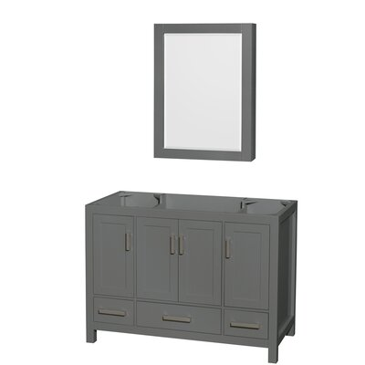 Sheffield 48 Single Bathroom Vanity Base with Medicine Cabinet