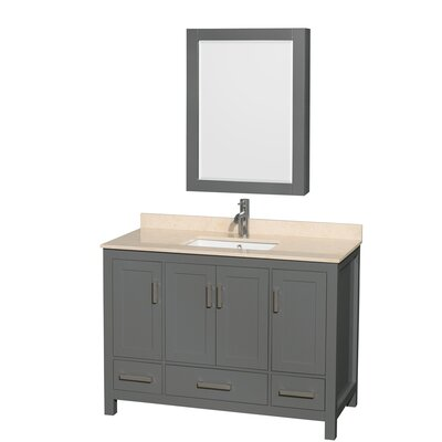 Sheffield 48 Single Bathroom Vanity Set with Medicine Cabinet Top Finish: Ivory