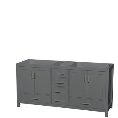 Sheffield 72 Double Bathroom Vanity Base