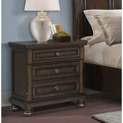 Guyton 3 Drawer Nightstand
