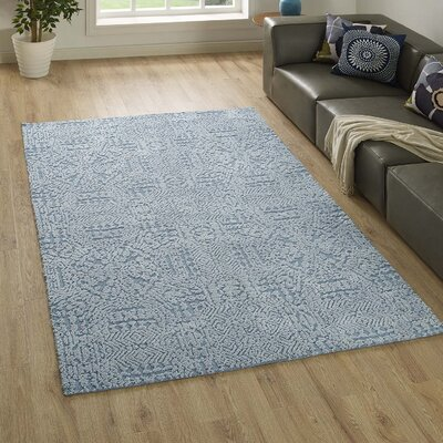 Burlison Ivory/Light Blue Area Rug Rug Size: Rectangle 8 x 10