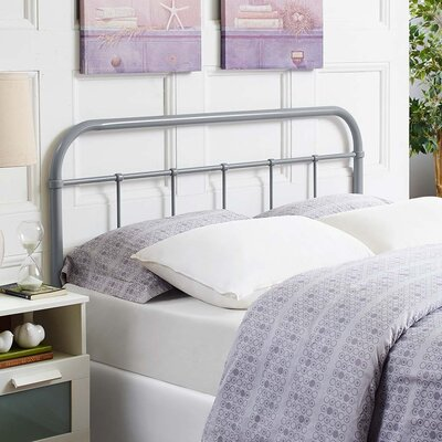Frailey Open-Frame Headboard Color: Gray, Size: Queen