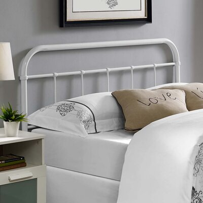 Frailey Open-Frame Headboard Color: White, Size: Full