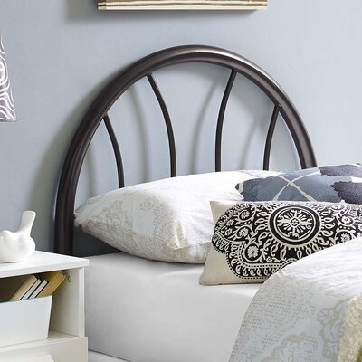 Crider Twin Open Frame Headboard Color: Brown