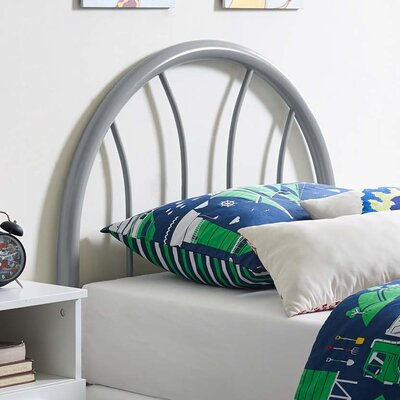 Crider Twin Open Frame Headboard Color: Gray
