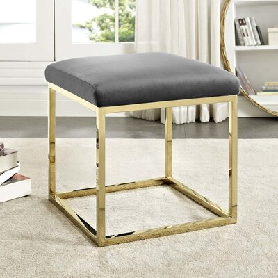 Kelch Ottoman Upholstery: Gold/Gray