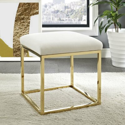 Kelch Ottoman Upholstery: Gold/Ivory