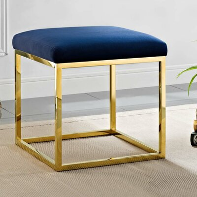 Kelch Ottoman Upholstery: Gold/Navy