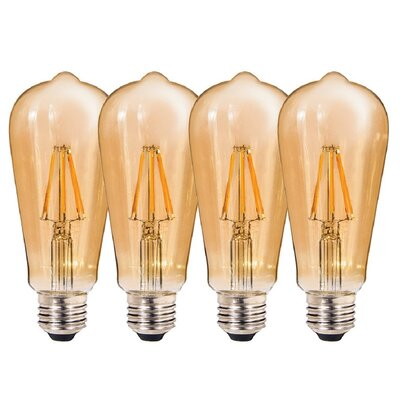 7W Amber E26/Medium (Standard) LED Light Bulb