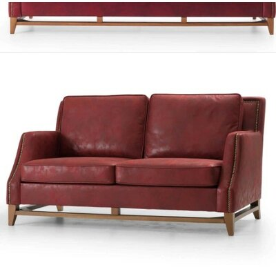 Chartrand Loveseat Upholstery: Red