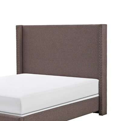 Bentson Upholstered Panel Headboard Size: Full/Queen, Upholstered: Bourbon Linen