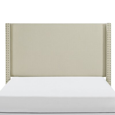 Bentson Upholstered Panel Headboard Size: King, Upholstered: Cr�me Linen