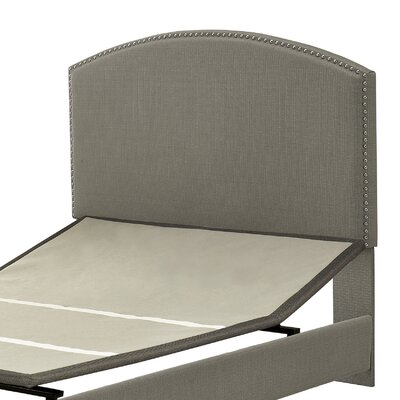 Haggins Upholstered Panel Headboard Size: Full, Upholstered: Shadow Gray Linen