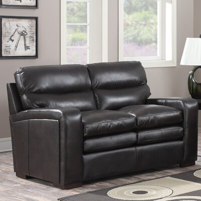Womac Leather Loveseat