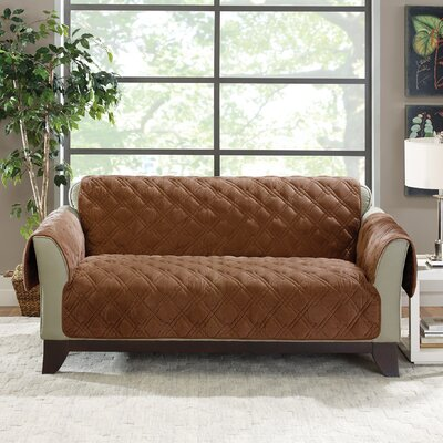 Plush Comfort Loveseat Slipcover Color: Brown