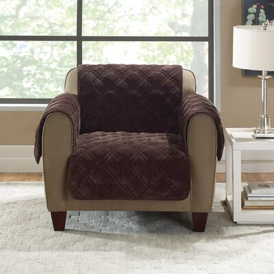 Plush Comfort Armchair Slipcover Color: Chocolate