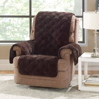 Plush Comfort Recliner Slipcover Color: Chocolate