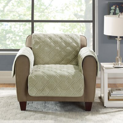 Plush Comfort Armchair Slipcover Color: Sage