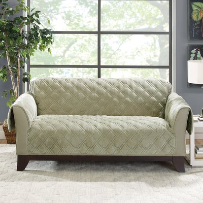 Plush Comfort Loveseat Slipcover Color: Sage