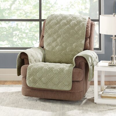 Plush Comfort Recliner Slipcover Color: Sage