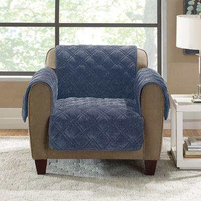 Plush Comfort Armchair Slipcover Color: Storm Blue