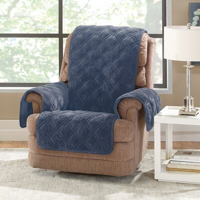 Plush Comfort Recliner Slipcover Color: Storm Blue