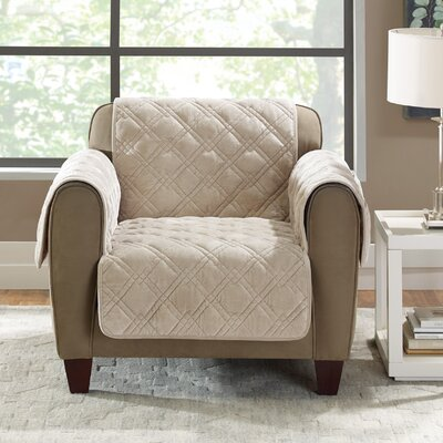 Plush Comfort Armchair Slipcover Color: Taupe