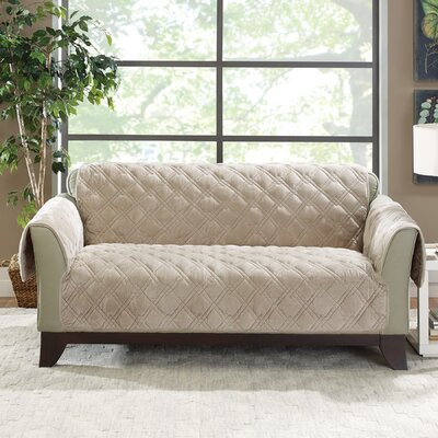 Plush Comfort Loveseat Slipcover Color: Taupe