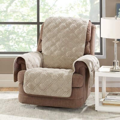 Plush Comfort Recliner Slipcover Color: Taupe