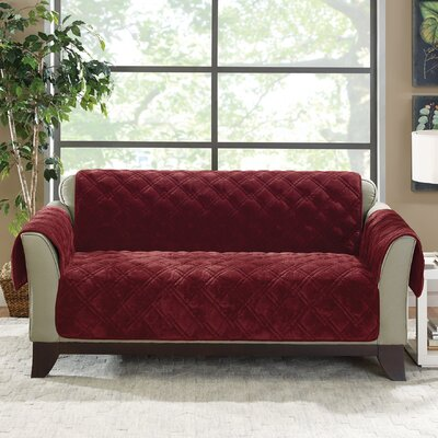 Plush Comfort Loveseat Slipcover Color: Wine