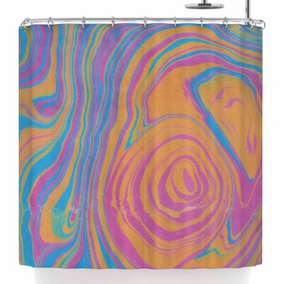 Viviana Gonzalez Suminagashi 01 Shower Curtain