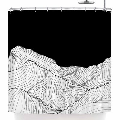 Viviana Gonzalez Lines In The Mountains Shower Curtain